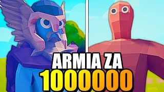 REKORD! ARMIA ZA MILION (1000000) GOLDA - MULTIPLAYER TOTALLY ACCURATE BATTLE SIMULATOR PL