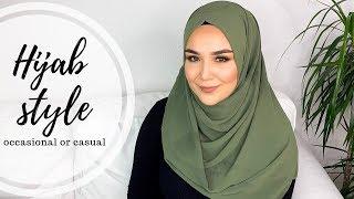 Casual Occasional Hijab Style I günlük sal bağlama modeli
