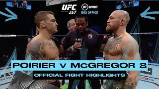 Dustin Poirier v Conor McGregor 2 | UFC 257 Official Fight Highlights