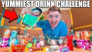 SWEETEST DRINK IN THE WORLD CHALLENGE!! 😋🥤 Gummy, Nutella, Reese's Pieces, Mars Bar & More