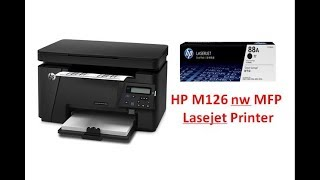 HP M126nw Laserjet Pro MFP Printer Demo and Review