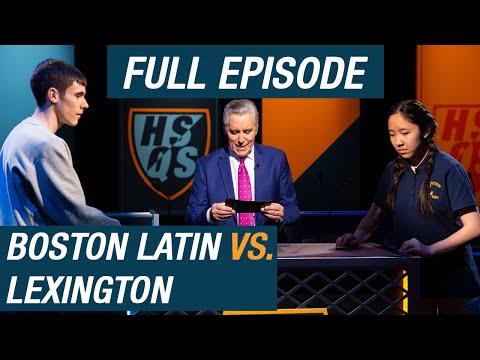 Boston Latin vs. Lexington   Quarterfinal #2   High School Quiz  Show (1111)