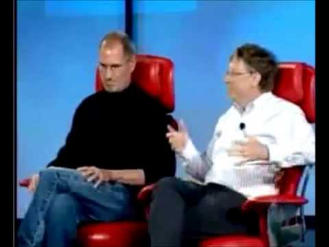 Steve Jobs and Bill Gates at D5