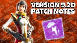 Update v9.20 Patch Notes | Fortnite Save The World