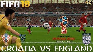 FIFA 18 (PC) (PC) Croatia v England | 2018 FIFA WORLD CUP RUSSIA | SEMI FINAL | 11/7/2018 | 4K
