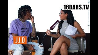 "J.I.D Interview: ""DiCaprio 2"", Kendrick Lamar comparison & Mac Miller  (16BARS.TV)"