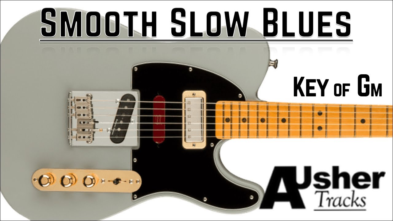 Smooth Slow Blues in G minor   Guitar Backing Track