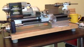 Taig Lathe with Siemens three phase motor and Delta VFD