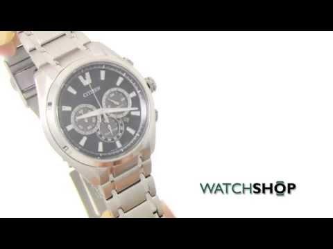 Men's Citizen Sport Titanium Chronograph Eco-Drive Watch (CA4016-51L)