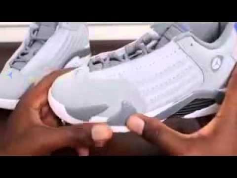 d145c0202c430d Kid Kicks Air Jordan Retro 14 Basketball Shoe On Feet Sneaker Review ...