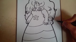 COMO DIBUJAR A ROSE CUARZO - STEVEN UNIVERSE / how to draw rose cuarzo