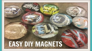 DIY Glass Magnet Upcycle (Dollar Tree)