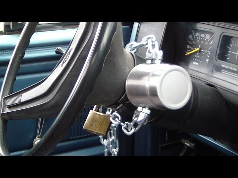 $10 DIY car theft protection steering wheel ignition key lockout boot