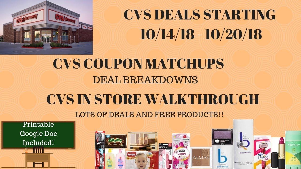 cvs deals starting 10  14  18