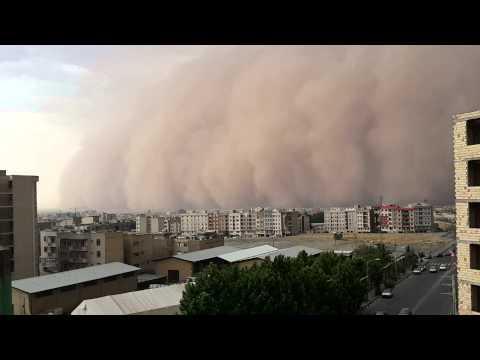Big Tornado in Tehran , violent storm TEHRAN