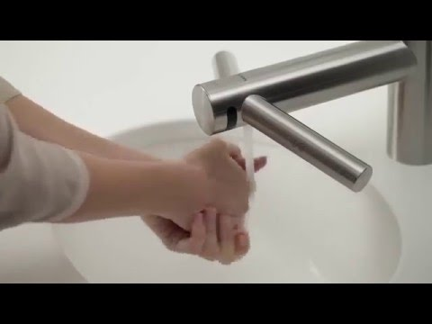 How to use the Dyson Airblade Tap hand dryer Official Dyson video ...