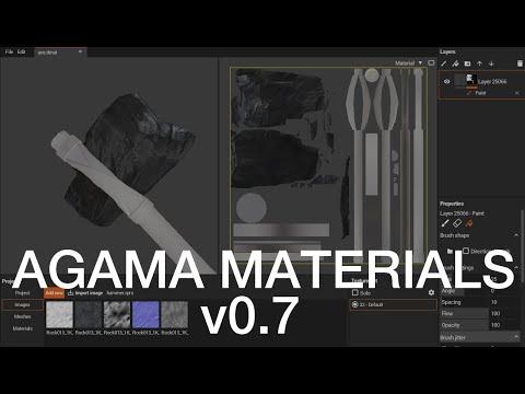 Agama materials v0.7 - features