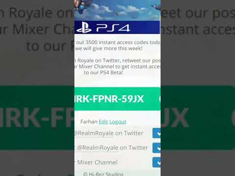 Realm Royale Promo Code Ps4 - Premium Android