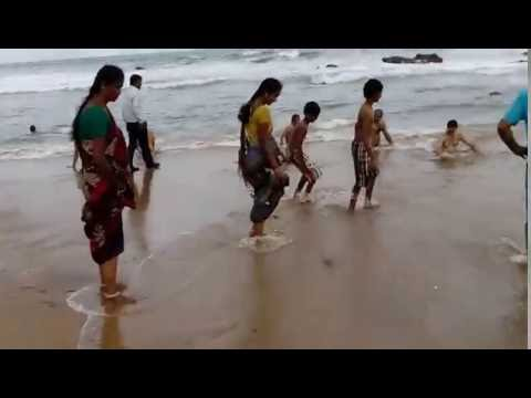 Vizag Rk beach at sunday hangamma