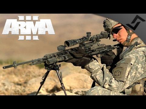 M24 & M14 EBR Sniper - ARMA 3 - Desert Mountain Sniper Gameplay