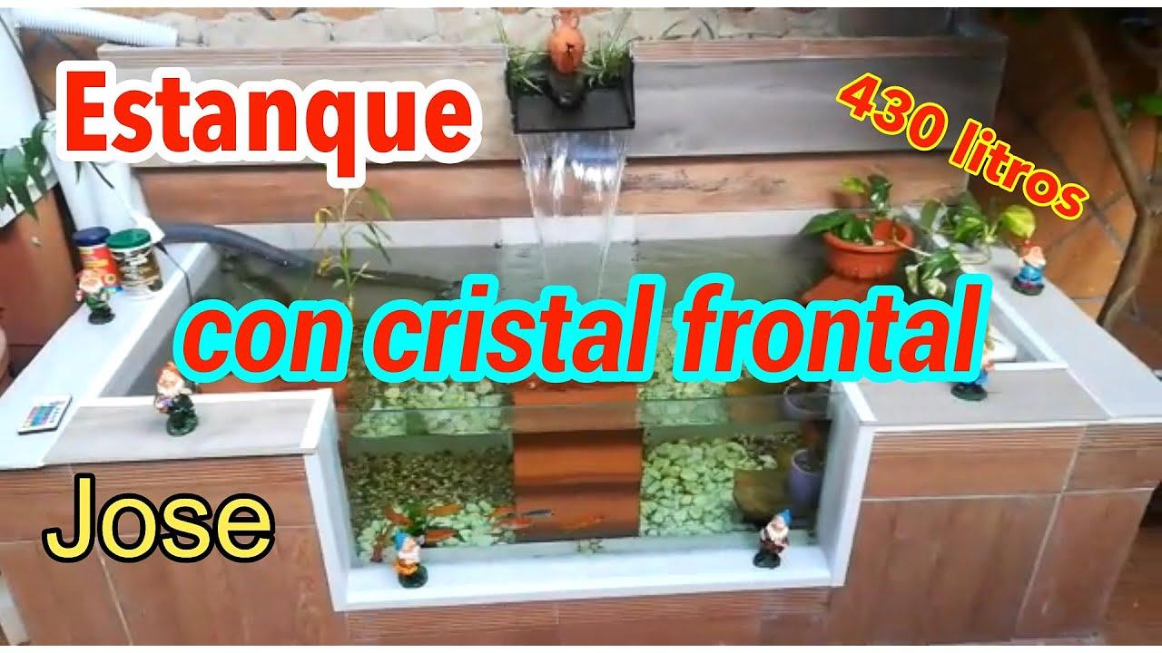 ❤️ Construcción de estanque con CRISTAL frontal /estanque de 430 litros