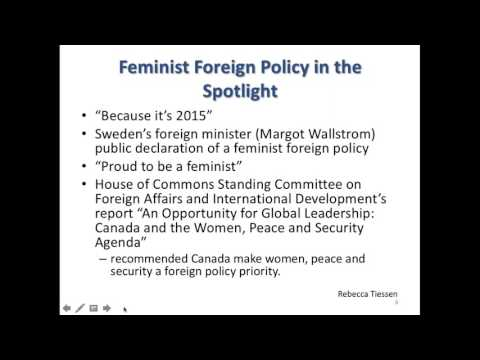 Feminist Foreign Policy & International Assistance  Lessons for Canada's Next National Action Plan