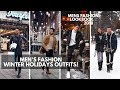 Men's Winter Holiday Outfit Ideas | Men's FW18 Fashion | Lookbook Inspiration
