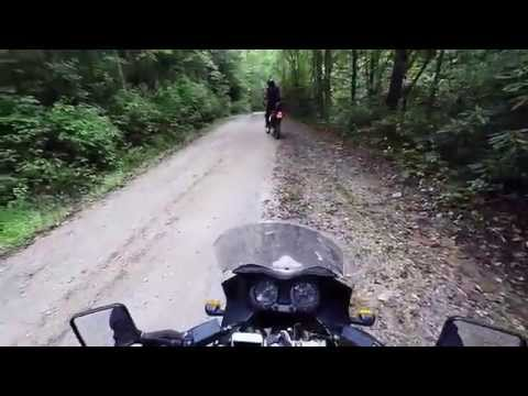 Dual Sport ADV Motorcycle Ride in North Carolina Mountains