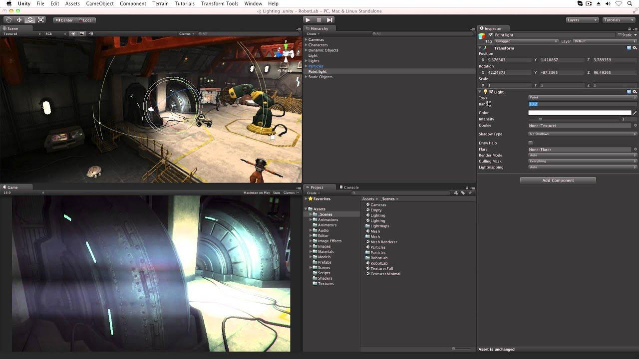 lights unity official tutorials