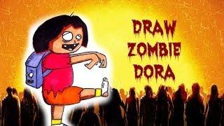 How To Draw Zombie Dora