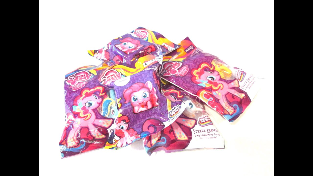 My Little Pony Puzzle Erasers And Blind Bag Pencil Toppers