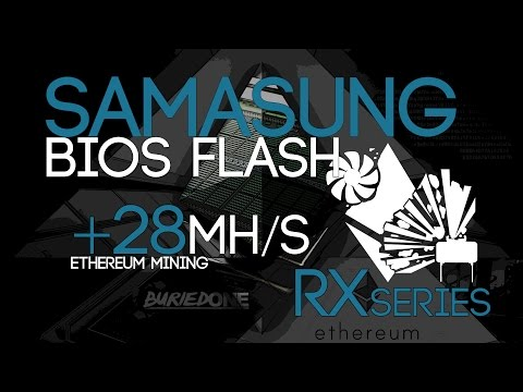 RX470/480 SAMSUNG Memory BIOS Mod/Flash Tutorial For High Mining Speeds