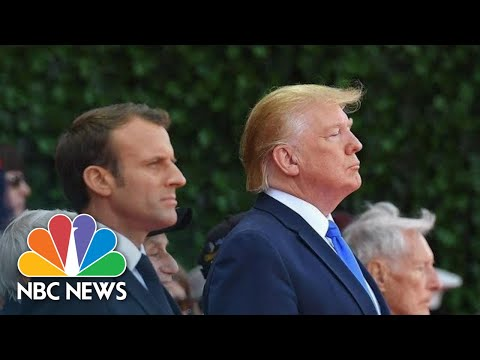 Watch Live: Trump, Macron meet after D-Day ceremony