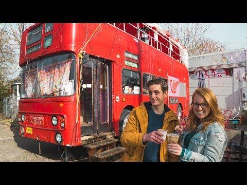 British Double Decker Bus Coffee Shop! + Epic Portland