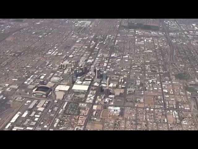 Flying over Arizona