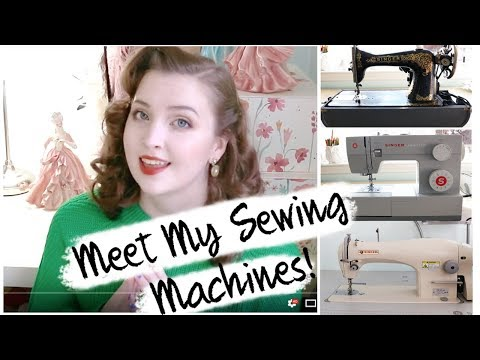 Meet My Sewing Machines! - Industrial, Home, & Vintage [Singer 191D-20, 4423, & 15 - 30]