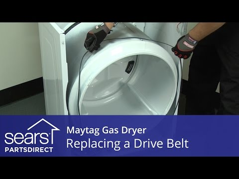 How to Replace a Maytag Gas Dryer Drive Belt - YouTube D Maytag Dryer Wiring Diagram on