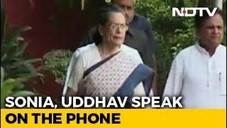 Will Get Back To You, Sonia Gandhi Tells Uddhav Thackeray In Phone Call