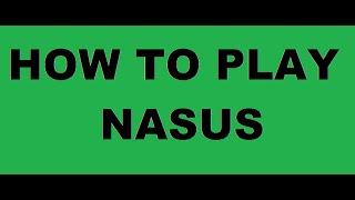How to play Nasus!#1 Farming Simulator.