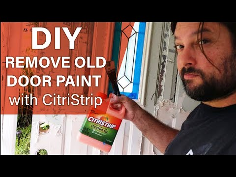 CitriStrip for door paint: How to remove old paint using CitriStrip paint remover -CitriStrip REVIEW