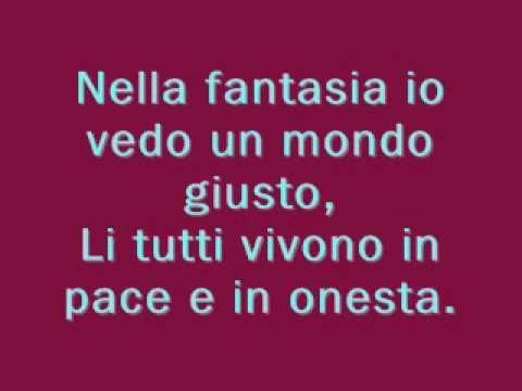 Nella Fantasia with lyrics