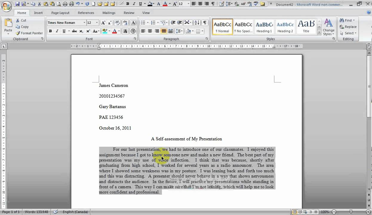 how to write a paragraph using mla style guidelines