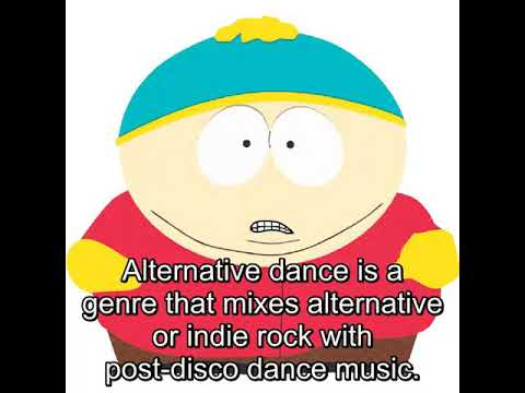 Alternative dance is a genre that mixes alternative or indie rock with post-disco dance music.