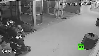 كاميرات مراقبة تلتقط لحظة وقوع تفجير في مسجد أمريكي