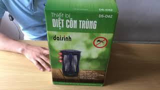 Đèn bắt muỗi, diệt côn trùng Đại Sinh DS-D62 (Nhựa chống cháy) - Đèn bắt muỗi đại sinh việt nam