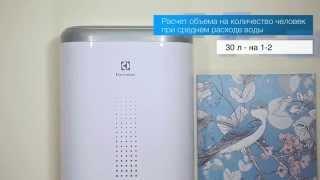 видео Электрический накопительный водонагреватель Electrolux EWH-100 Major LZR