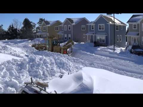 Snow Plowing on Prince Edward Island, CANADA