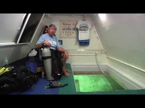 Tour of the underwater habitat