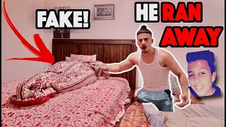 He Ran Away From Home.. (FAKE PERSON IN BED)