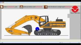 How tracked excavator machine works. ✔